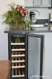 Built In Kitchen Cabinet Diy Built In Wine Cooler H20bungalow