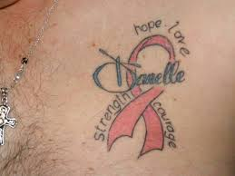 cancer ribbon and butterfly tattoos on wrist photos