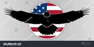 Bald Eagle On Flag Bald Eagle Silhouette On Us Flag Stock Vector 176419244 Shutterstock