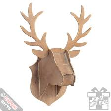 wooden stag head flat pack wall mounted home decor animal art