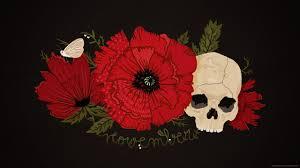 November Flowers Download 2560x1440 November Skull With Flowers Wallpaper