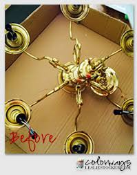Brass Chandelier Makeover Brass Chandelier Makeover And A Delivery Colorways With
