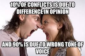 Funny Couple Meme - 10 percent of conflicts is due to difference in opinion funny couple