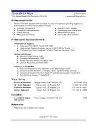 Sample Resume Administrative Support Sample Of Resume