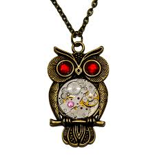 steampunk owl necklace images Thelongwayround creations steampunk owl necklace jpg