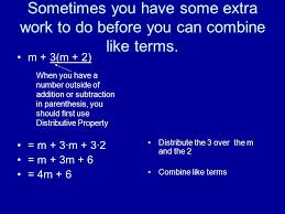 simplifying algebraic expressions a review of coefficients