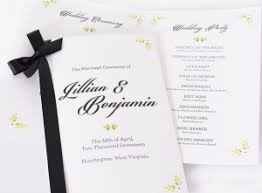 formal wedding programs wedding programs personalized wedding program books labelsrus