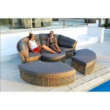 skyline design round castries rattan daybed spa furniture