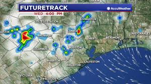 Houston Weather Map Few Evening Showers Around Houston Abc13 Com
