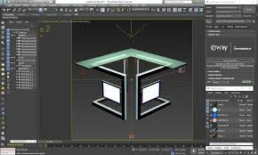 News Studio Desk by 3d Model Virtual Tv Studio News Desk Cgtrader