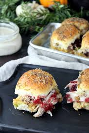 thanksgiving leftover turkey and dressing sliders addicted to