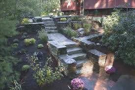 Tiered Garden Ideas Tiered Backyard Landscaping Ideas Awesome For A Hill Rochester Mn