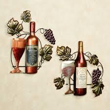 wine lovers selection metal wall art set