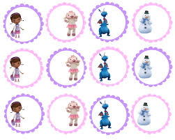 doc mcstuffins cupcake toppers free doc mcstuffin birthday party printables delicate construction