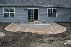 Backyard Concrete Patio Ideas by Diy Extending Concrete Patio With Pavers Paver Patio For The
