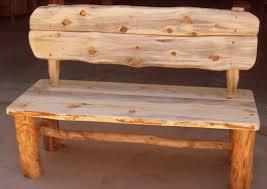 Rustic Log Benches - enchanting art inside in mabur model of inside in easy pics