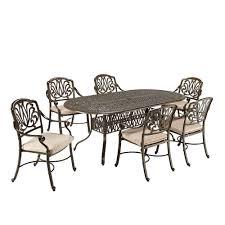 6 Seat Patio Dining Set - hampton bay fall river 3 piece bar height patio dining set with