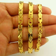 classic gold bracelet images Classic gold bracelet for women men gold color dubai bangle jpg