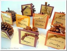 1000 ideas about thanksgiving name cards on
