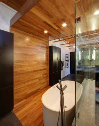 Half Wood Wall by Half Century Rancher Renovated Into Large Modern 2 Story Home