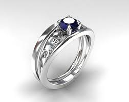 simple sapphire engagement rings engagement ring set blue sapphire ring wedding