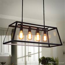 Black Dining Room Light Fixture Loft Pendant L Retro American Industrial Black Iron Glass Black