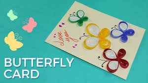 paper quilling card design butterfly greeting card pattern