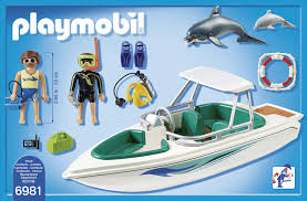 amazon com playmobil 6981 diving trip with speedboat free