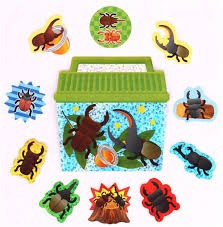 insect stag beetle terrarium sticker sack crux sticker sacks