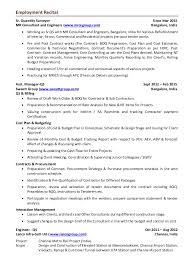 Contractors Resume Aditya Hegde Qs Cover Letter With Resume