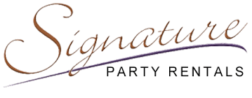 party rental stores signature party rentals
