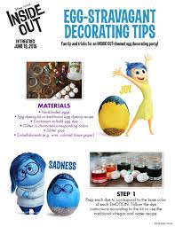 Disney Easter Egg Decorating Kit by Free Printable Inside Out Activity Sheets Including Easter Egg