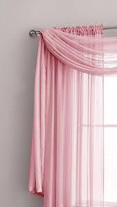 Premium Curtains Warm Home Designs Pink Window Scarves Sheer Light Pink
