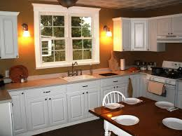 country kitchen ideas for small kitchens exposed brick wall two
