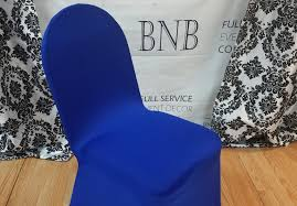 royal blue chair covers royal blue spandex chair cover bnb events decor