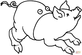 pig use trousers coloring page free printable coloring pages