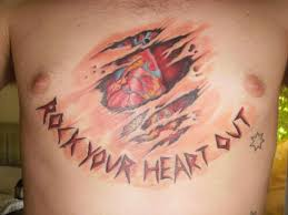 with being ripped out of chest rock your out