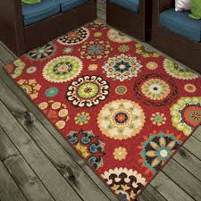 Rv Rugs Walmart by Orian Rugs Indoor Outdoor Medallion Salsalito Area Rug Or Runner