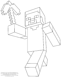minecraft color pages coloring pages