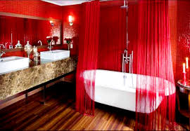 Beautiful Color Accent Bathroom Beautiful Red Bathroom Theme Idea Combined Black White