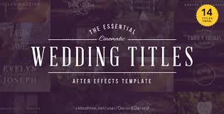 25 wonderful wedding video after effect templates pixel curse