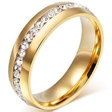 mens gold wedding rings mens womens 6mm titanium stainless steel 18k gold wedding ring