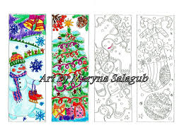 diy christmas bookmarks print color and make yourself digital