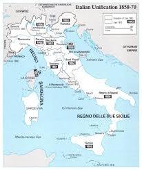 Italian Map Italian Unification Map 1850 1870 Philatelic Database