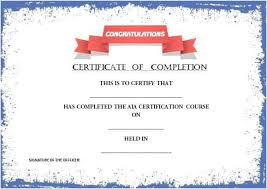 100 certificate of completion template word certificates office