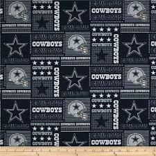Dallas Cowboys Home Decor Nfl Cotton Broadcloth Dallas Cowboys Patchwork Blue White