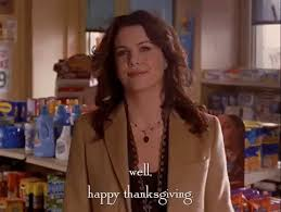 lorelai gilmore happy thanksgiving gif by gilmore find