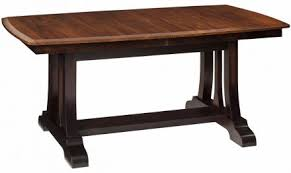 what is a trestle table solid wood trestle tables countryside amish furniture