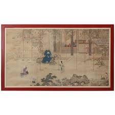 Large Oriental Wall Fans by Antique Asian Paintings And Screens 831 For Sale At 1stdibs