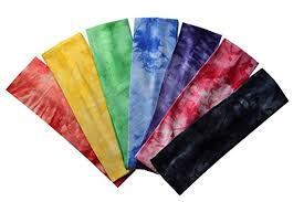 tie dye headbands set of 7 marble tie dye cotton lycra stretch headbands by